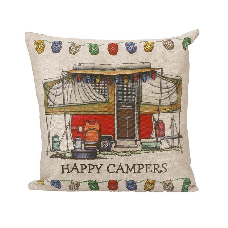 Bel yastık kılıfı Mutlu Kampçılar pillowcover yastık kılıfları ev tekstili hediye yastık fişleri set drop shipping Araba yastıkları Minder Örtüsü