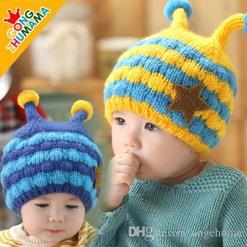 eb0a0c0629c Cheap Baby Hats Pink Knit Hat Girls Boys Beanie Winter Toddler Kids Boy Girl  Faux Warm Crochet Cap Bee Shape Cap for 1-3years Children s