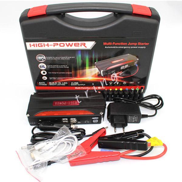 New Emergency power start 4 USB 12 v Car Ir Para Iniciantes Auto EPS Carregador de carro laptop / notebook / tablet / celular carregador de banco de potência
