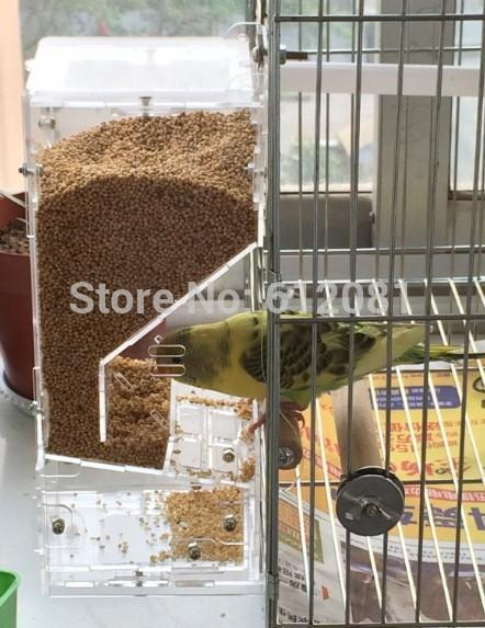 2018 1509 tidy seed no mess bird feeder parrot food for Bird food holder