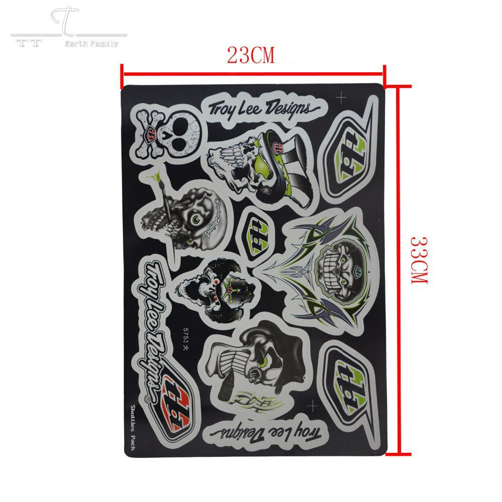 Decals Stickers Dirt Bike Racing Off Road Skullcandy - Stickers for motorcycles harley davidsons