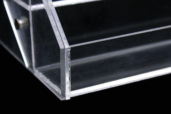 2015 Cosmetic Nail Polish Display Stand Rack Acrylic Makeup Organizer Perfume Lipstick Crystal Storage Box