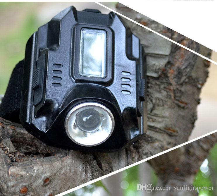 Luz LED impermeable Reloj de pulsera Linterna 600 Lumen SOS Acampar al aire libre Relojes tácticos de emergencia Caminata Iluminación LED