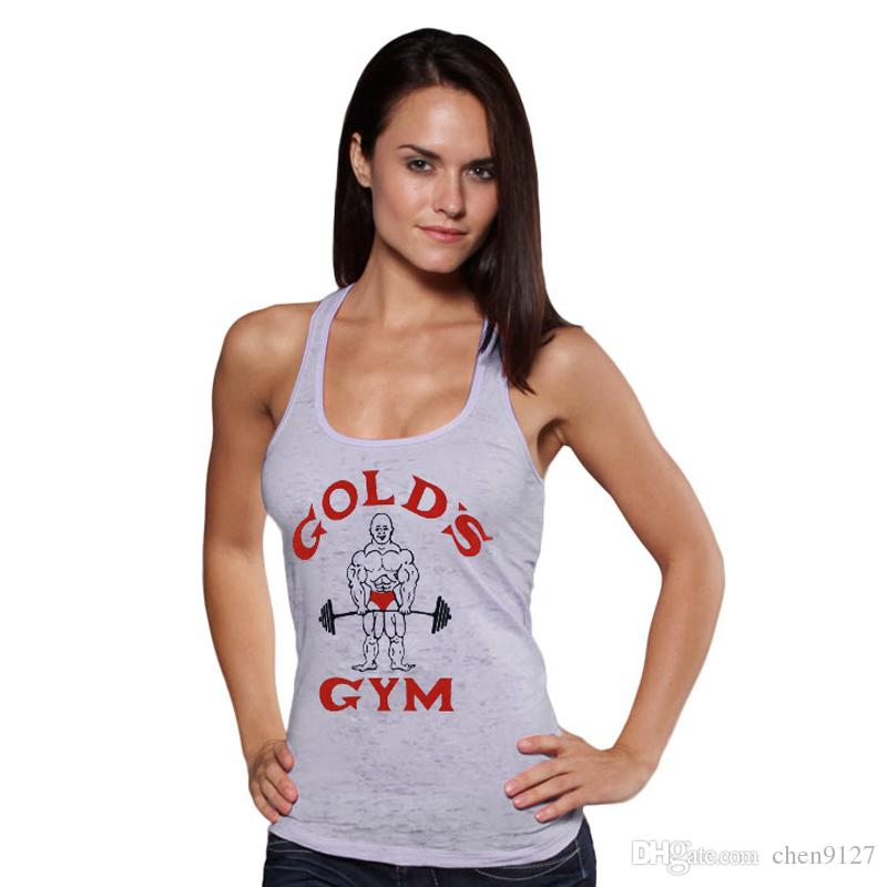 Golds Gym Tank Top Women Fitness Summer Style Shark Sexy ...