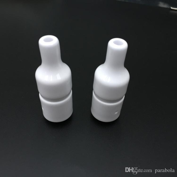 Cerâmica atomizador atomizador e cigarro 510 atomizador cera cera vaporizador cerâmica wick atomizador kits tanque de cerâmica sem pavio atomizador