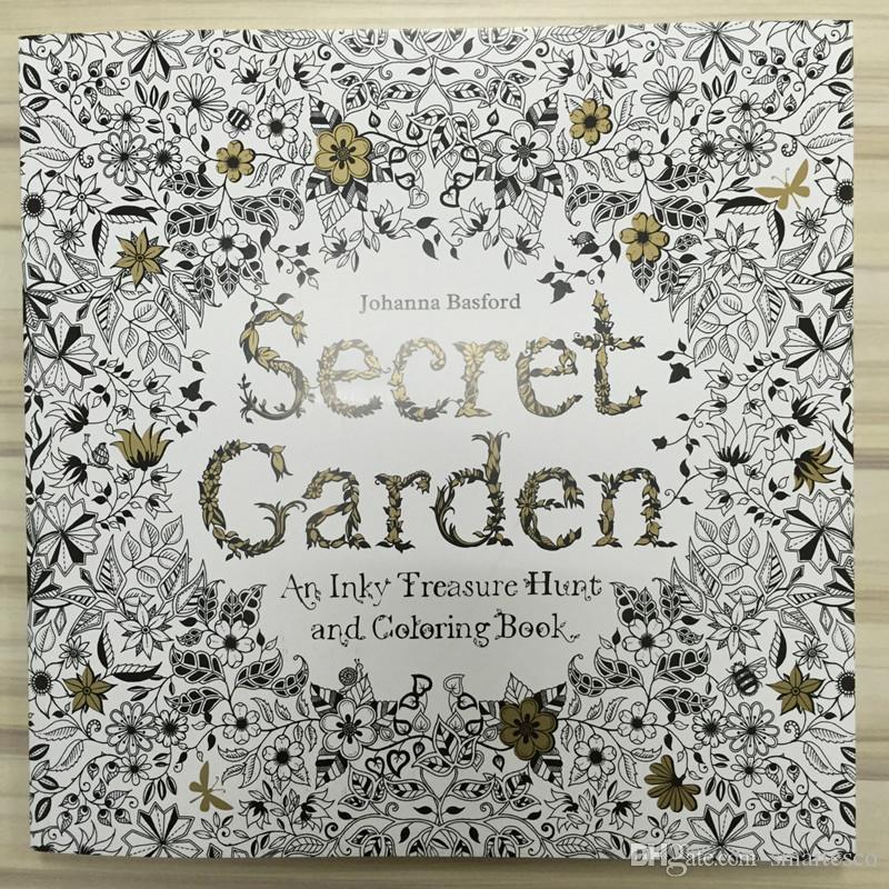 Compre 4 Diseño 24 Páginas Tinta Coloring Dibujo Libros Jardín ...