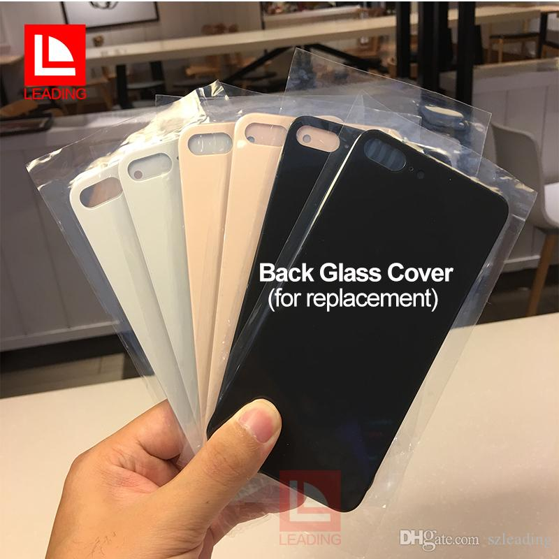 """High Quality Glass Back Cover For iPhone 8 8plus 4.7 inch 5.5"""" White Black Gold Replacement Repair Part"""
