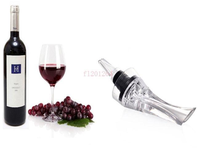 Бесплатная доставка быстрая бутылка аэрации графин вина Выливные магия красное вино аэратор декантирования Выливная с розничной коробке 30 шт./лот