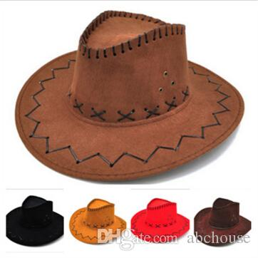 bf546d91f90 Cowboy Hat New Suede Look Wild West Fancy Dress Mens Ladys Cowgirl ...