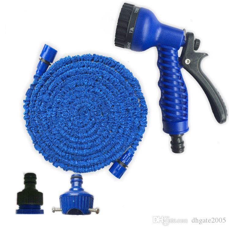 lexible Expandable Water Hose Pipe Garden Car Wash Jet Spray Gun Nozzle Head