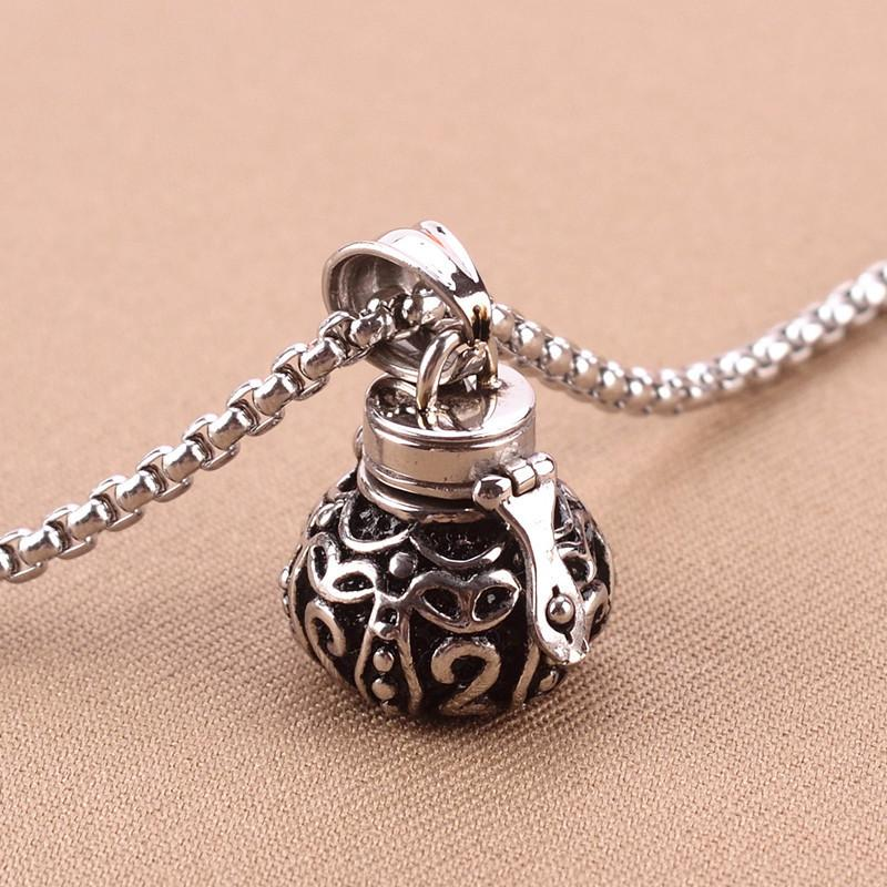 steel ash boxing stainless jewellery cremation glove pendant memorial necklace urn item keepsake