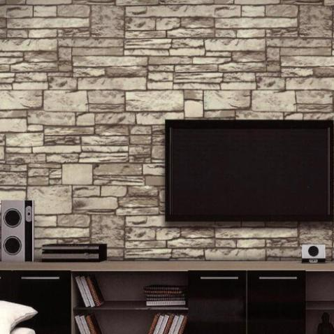 10M Stone Wall Textured Feature Wallpaper Roll Tv Background Papel De Parede Vintage Brick Paper Home Decor Wallpapers Cheap