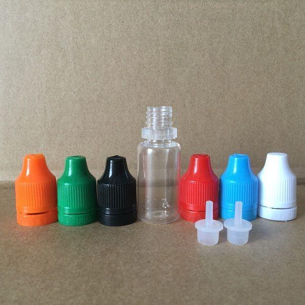 Colorato Tamper Evident Seal e Child Proof Empty Bottle 5ml 10ml 15ml 20ml 30ml E Bottiglie con contagocce in plastica liquida con punte sottili sottili