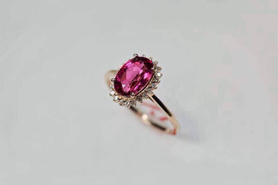 2017 Hg335 Ruby Prong Setting Ruby Wedding Ring18k Yellow Gold