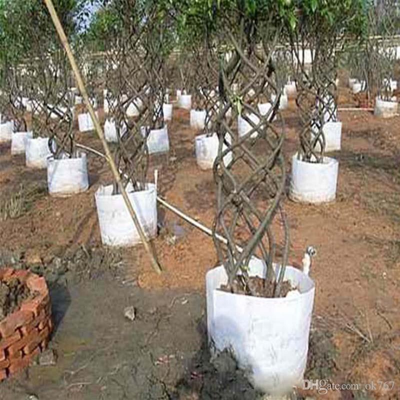 Reutilizable Redondo Tela no tejida Macetas Planta Bolsa Raíz Contenedor Crecer bolsa Aireación Contenedor Jardín Suministros maceta