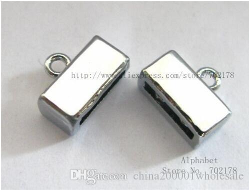 silberne Farbe Normalkristallzinklegierung Ende Verschluss Steckverbinder 8mm Dia-Charme-DIY passten 8mm Haustier-Kragen-Armband Schlüsselanhänger