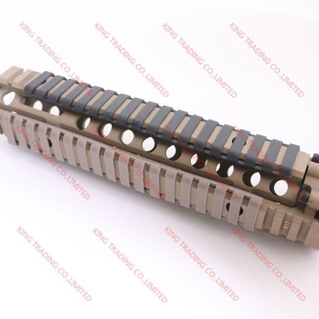 MP Ladder 18 Slot 로우 프로파일 레일 커버 4 개 / Pack Handguard AR15 / M4 용 KT9526