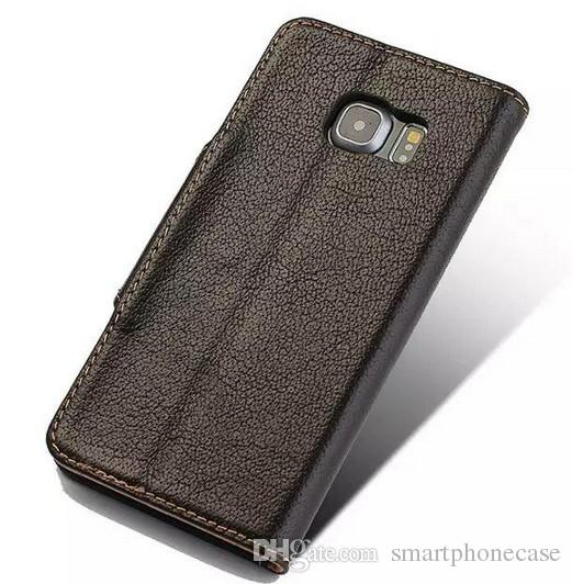 2016 Arrival For Samsung S6 Edge Case Flip Purse Brand Genuine Wallet Original Luxury Silicone Leather Case for Samsung Galaxy S6 Edge G9250