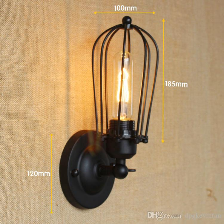 Industrial Wall Sconce Vintage Lamp Country Loft Antique lights American Classic Sconce for Home Indoor Bedside Retro Lighting
