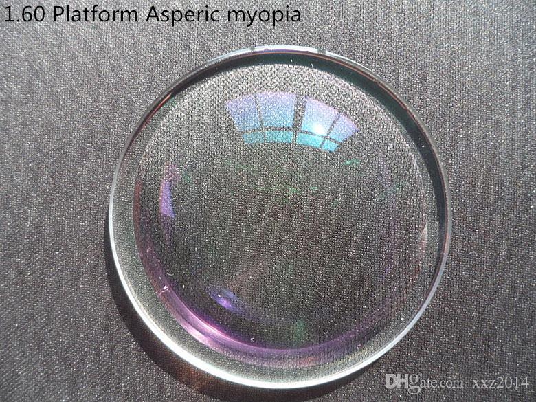 Plate-forme Hot Patent 1,56 Prescription Lunettes sur mesure Objectif ShMC FlatThin Myopie / presbytie lentille Asperic pour halfrim lunettes monture complète