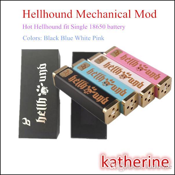 E Cigarette Mechanical Mod Cube Hellhound Single 18650 Hell Hound Battery  Mod 510 Thread Copper Materials New Arrivals Fast Shipping