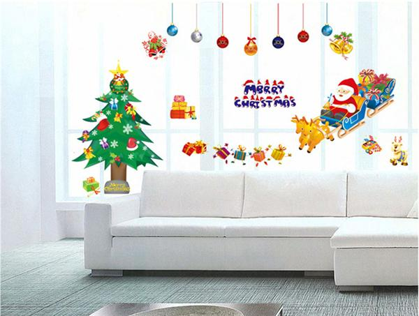 Wallpaper Wall Paper Stickers Merry Christmas Xmas Tree