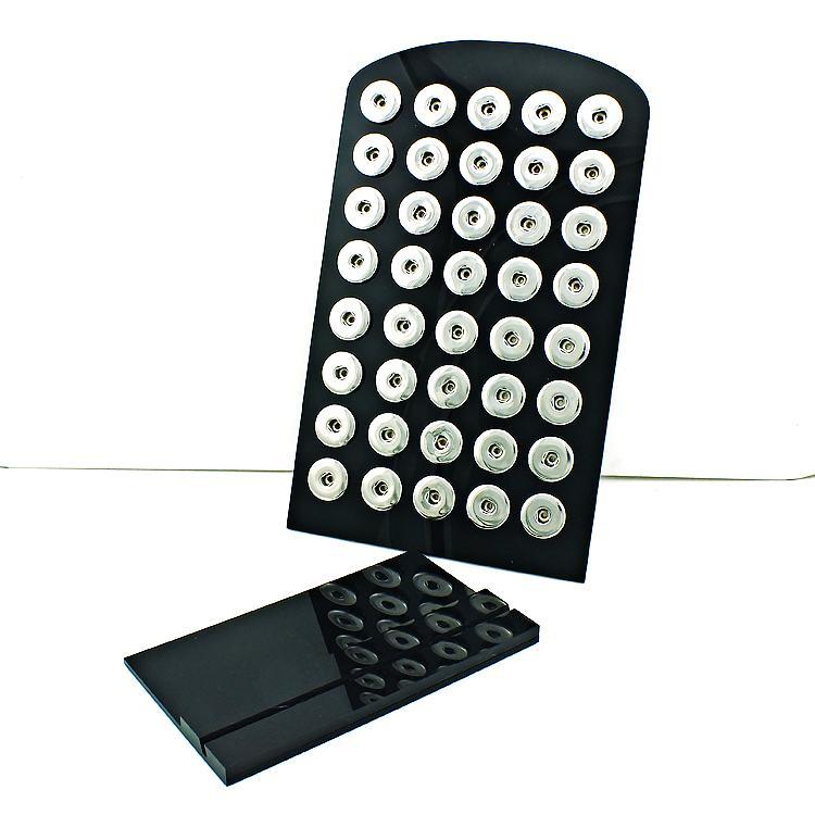 Новый 18 мм Оснастки кнопки дисплей стенды мода высокое качество черный акриловые взаимозаменяемые ювелирные изделия дисплей доска
