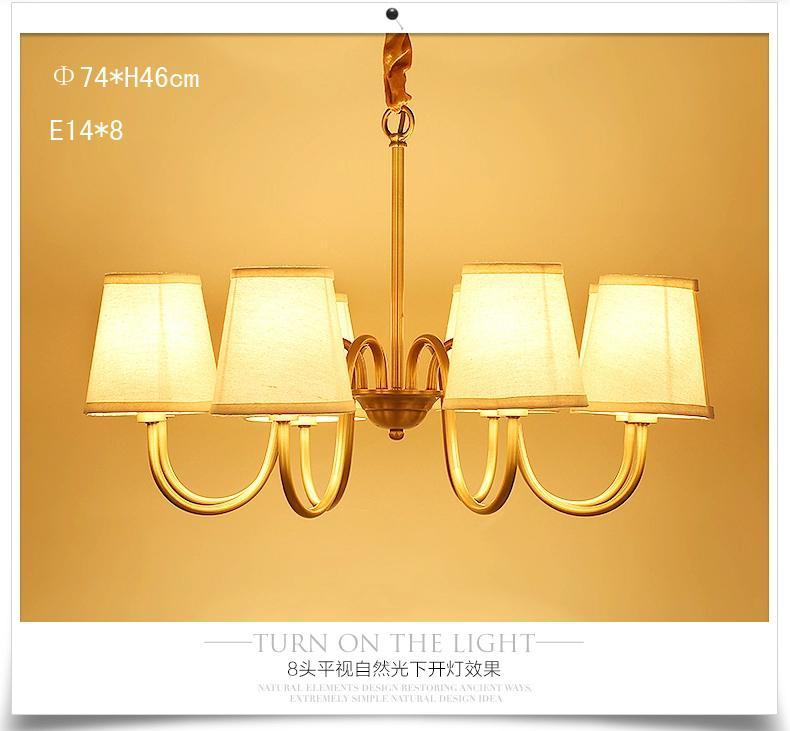 Großhandel Europäischen Stil Alle Kupfer Einfachen Amerikanischen Land  Ganze Kupfer Lampe Wohnzimmer Schlafzimmer Esszimmer Lampen Und Laternen  Von ...