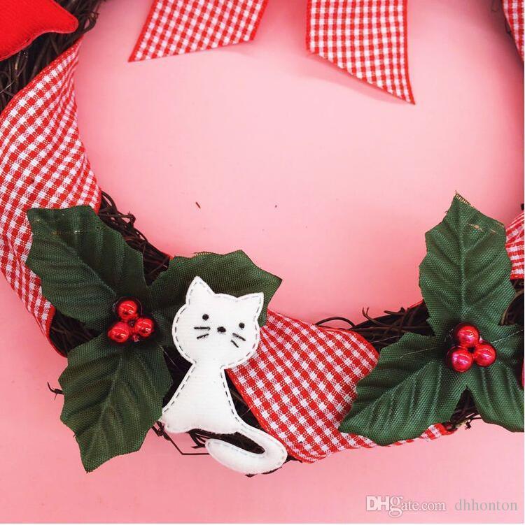 ghirlanda di pino decorazioni natalizie vendita all'ingrosso 25cm / 9.8