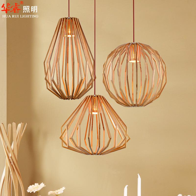 Lightings: Pendant Lightings Solid Wooden Chandeliers Retro Diamond