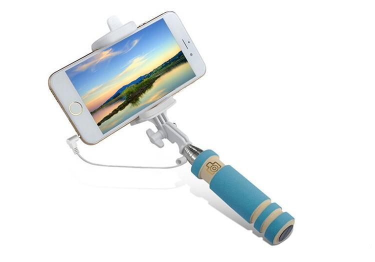 Autorretrato universal Cableado Portátil Monopie Portátil Plegable Mini Selfie Stick para iPhone Samsung HTC LG Sony Teléfonos con cámara