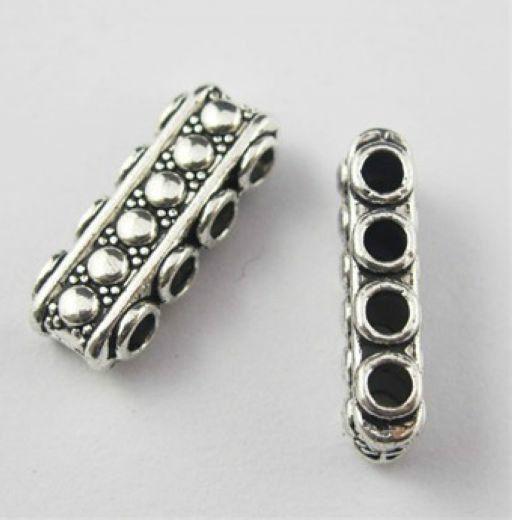 Bezpłatne 200 sztuk / partia Tybetański Silver 3 Otwór Złącza Spacer Koraliki Dla Urządzeń Biżuterii Bransoletka 18x8mm