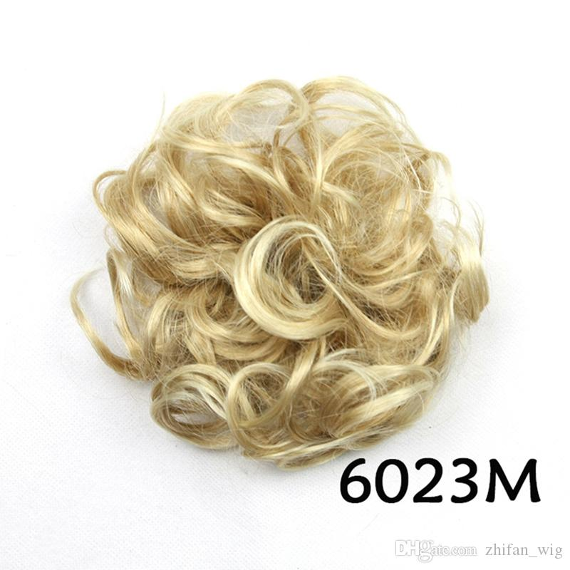 Z&F 12CM ladies' fashion synthetic hair buns cover clips flower chignons hair pieces easy to wear hair bun