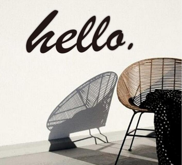 please say HELLO wall stickers home decorations living decoration sticker 3d diy vinly wall decals wall decors