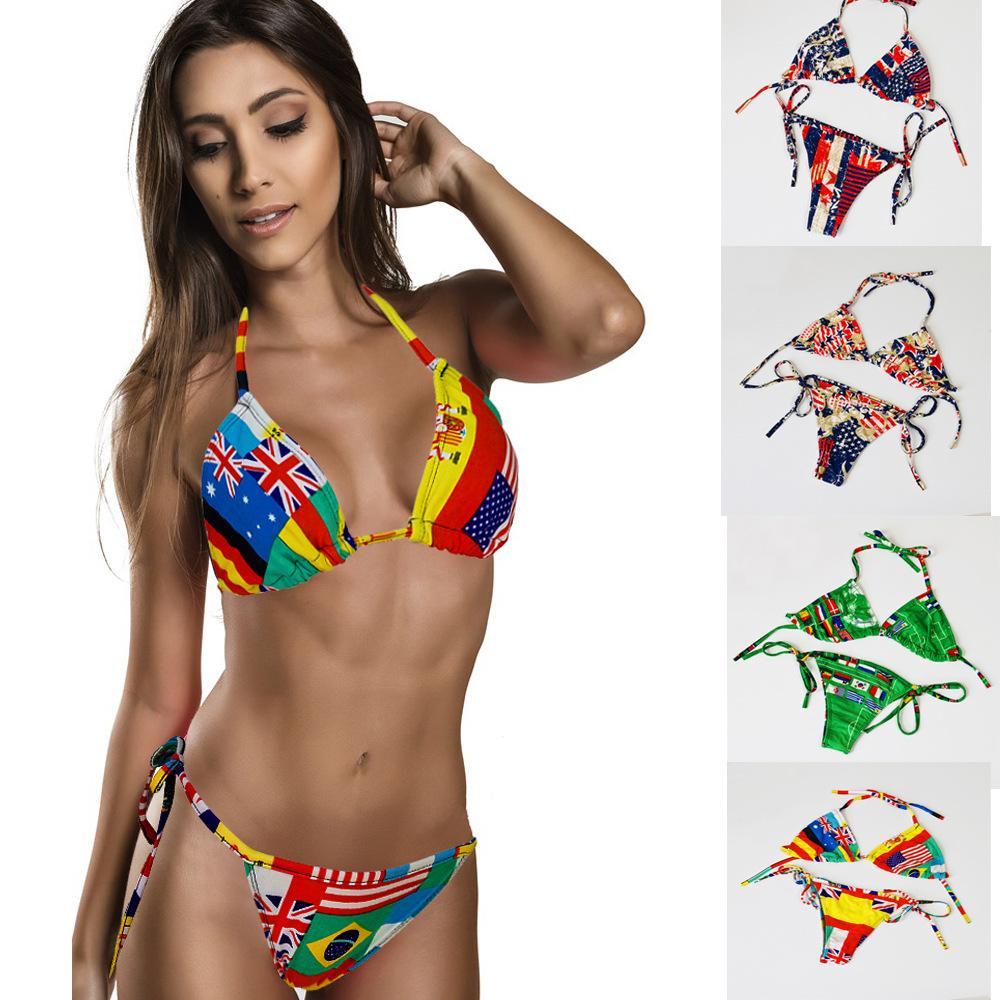 166f9bf76ec 2019 2015 Swimsuit Swimwear Women Sexy Bikini STARS STRIPES USA Flag PADDED  TWISTED BANDEAU Swim Suit Tube Swim Wear S404M From West Wind