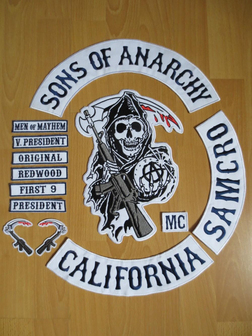 2019 original sons of anarchy embroidery twill biker. Black Bedroom Furniture Sets. Home Design Ideas