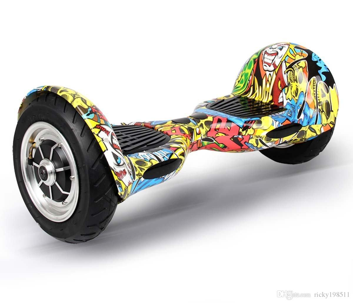 10 дюймов большой шин мини смарт самостоятельно баланс скутер два колеса умный самобалансировку электрического дрейфа совет мопедов