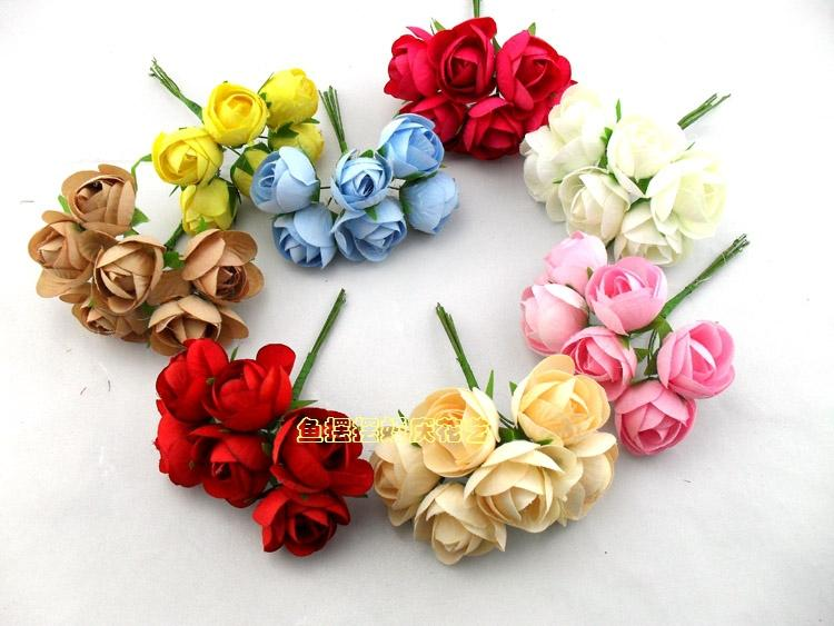 2018 Diy Simulation Rose Tea Bud Small Bouquet Of Flowers Garland ...