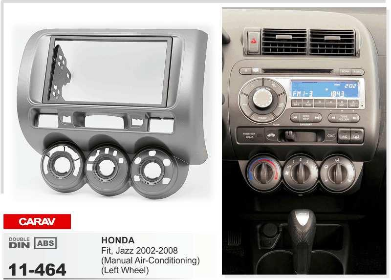 Carav 11464 Top Quality Radio Fascia For Honda Fit Jazzmanual Air Rhdhgate: 2007 2008 2009 2010 2011 Honda Element Dash Kit Double Din For Radio At Gmaili.net