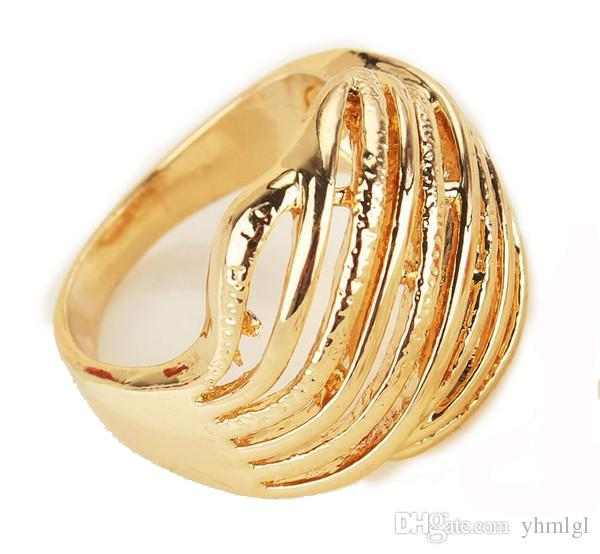 New Birthday/Valentine's Gift For Women/Men Yellow Environmental 18k Gold Filled Size 8.5 Ring Jewelry
