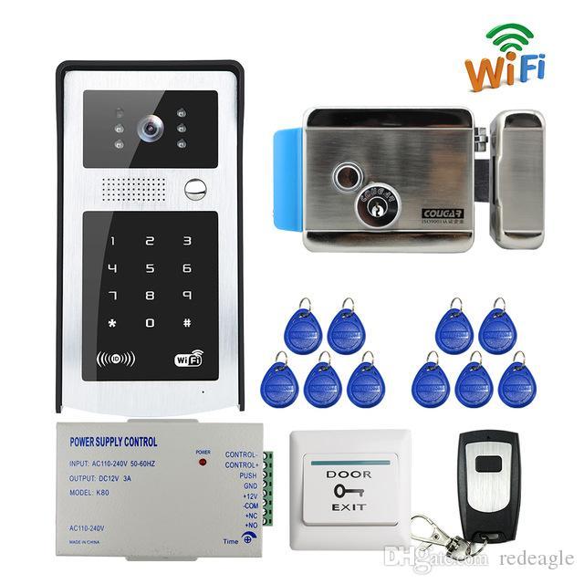 Wifi Video Door Phone Intercom Metal Outdoor Doorbell With