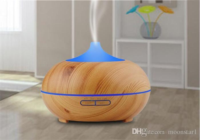 300 ml holzmaserung led lichter ätherisches öl ultraschall luftbefeuchter elektrische aroma diffusor für office home schlafzimmer wohnzimmer yoga spa