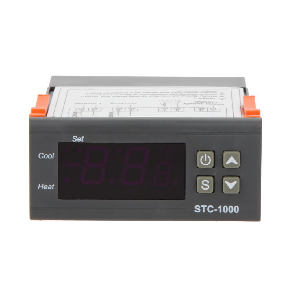 Temperatura Elitech STC-1000 220V Mini Controlador Digital Termostato Acuario Termómetro W / 2M Cable sensor de la sonda, dandys