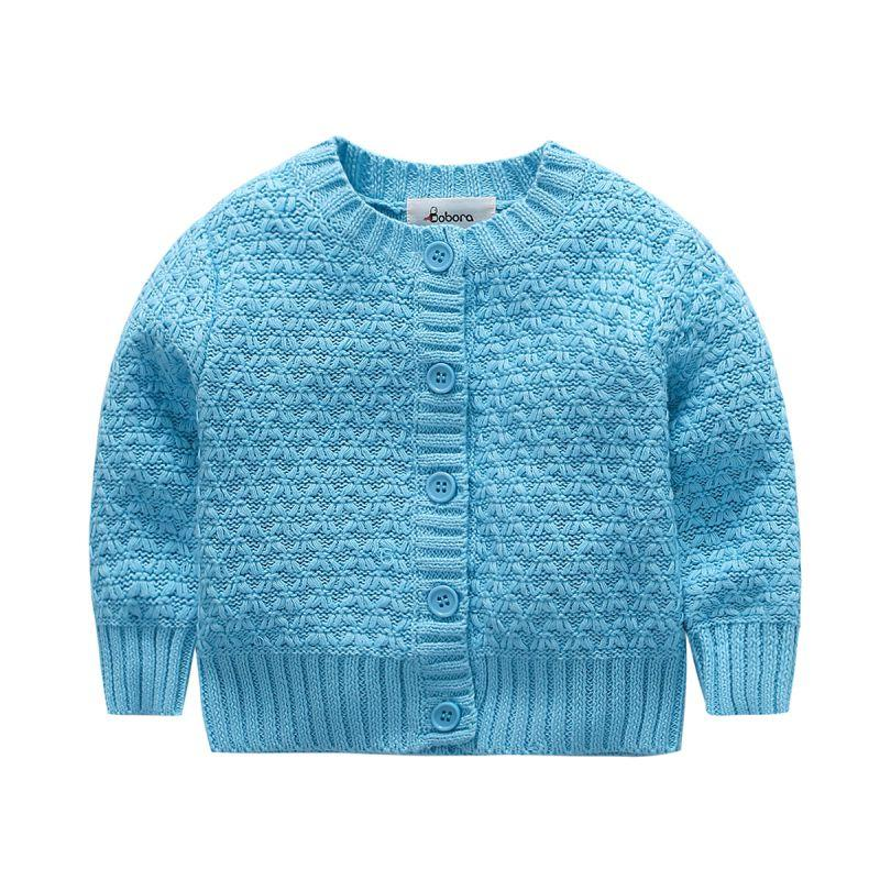 Wholesale Toddler Baby Knitted Cardigan Sweater Ruffle Collar Warm