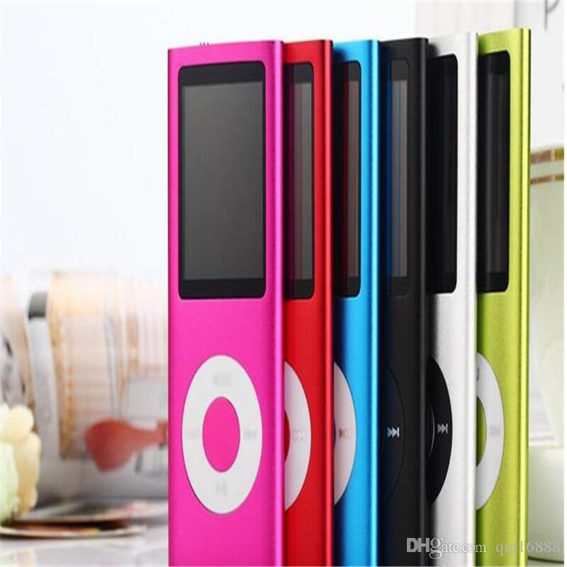 "MP3 MP4 Player Slim 4TH 1.8""LCD Video Radio FM Player Support 4GB 8GB 16GB 32GB Micro SD TF Card Mp4 4th Genera"