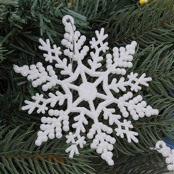 The new holiday articles 10 centimeters flash with snow Christmas ornaments Christmas tree decorated Christmas decorations
