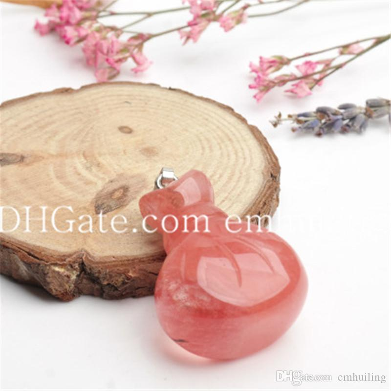 Handbag Shape Tiger Eye Pendant Healing Rose Quartz Agate Crystal Stone Lucky Bag Pendant Natural Stone Mascot Fortune Bag Pendants Charms