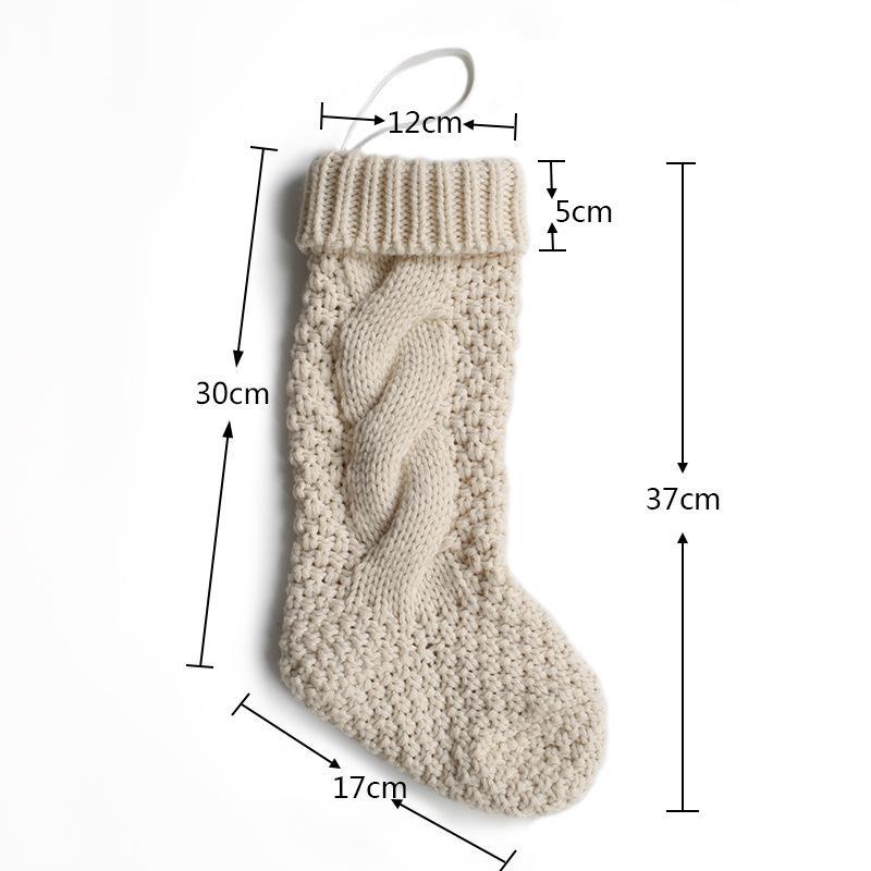 Redpoker New Christmas Stocking Long Crochet Knitted Xmas Stocking ...