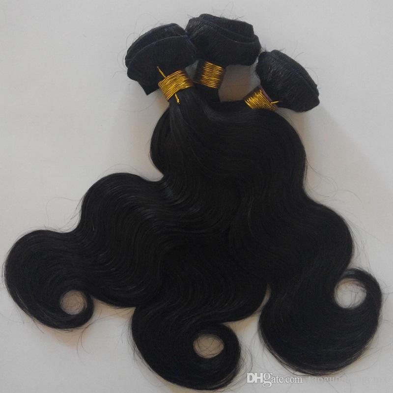 Brezilyalı İnsan saç Vücut Dalga Saç Örgüleri 7A Doğal Renk Malezya remy saç demetleri Büyük Kalite Çin tedarikçiler Düz bakire