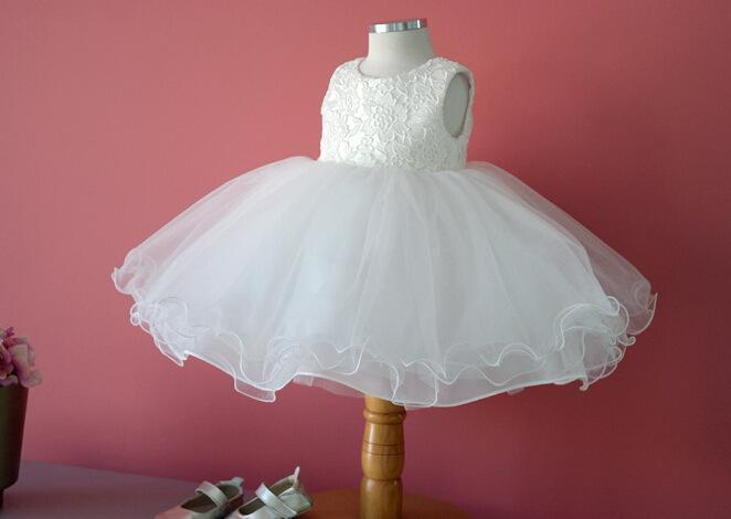 2018 White Chiffon Baby Girl Dress Wedding Birthday Christening Gowns For 0 10 Years Old Infant From Cutekidsworld